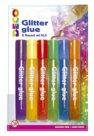 Colla glitter, 6 colori pastello