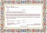 Diploma Pergamena per unione civile, cm 21x29,7