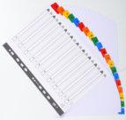 Divisori in cartoncino colorato, 20 alfabetiche