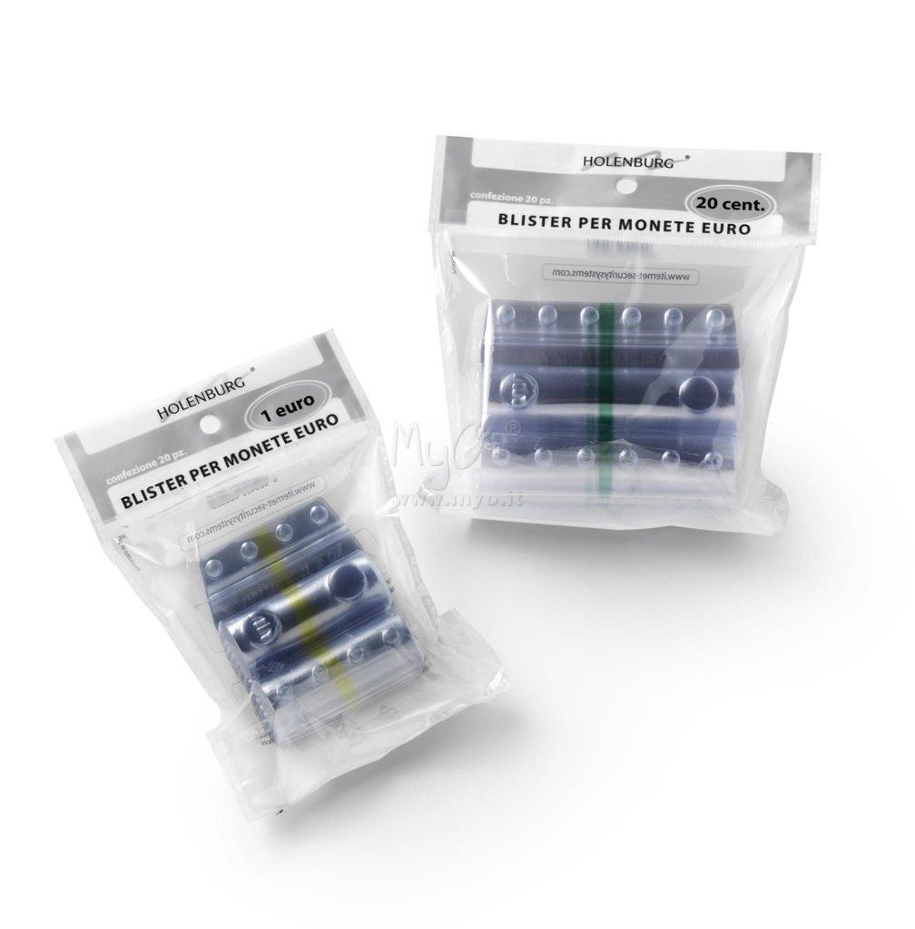 contenitori monete Blister in plastica per monete da 20 cent 100 pezzi
