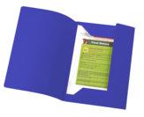 Cartelle bristol con alette 200 gr, blu