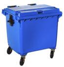 Contenitore immondizia con ruote, blu