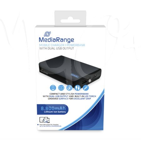Caricabatterie power bank con doppia Usb