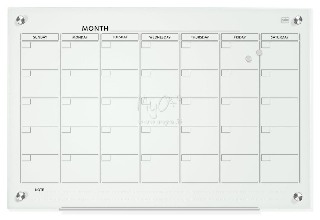 Calendario Planning.Planning Calendario Glass Acquista In Myo S P A Cancelleria