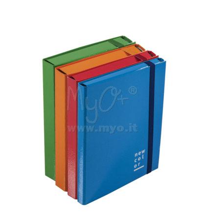 Portaprogetti in cartone plastificato con elastico piatto