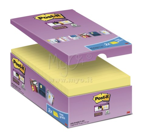 Post-it® Super Sticky Value Pack, Vari Formati, 76 x 76 mm