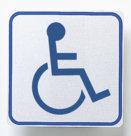 Segnaletica da interni autoadesiva, toilette disabili