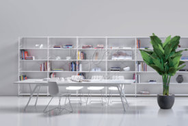 SOCRATE libreria in acciaio