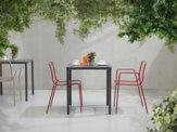 SUMMER sedia e sgabello per esterni - cf 2pz