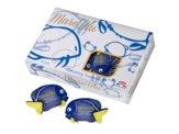 Salviette Mani Monouso in Box, Formato 6x8 cm, pesce blu