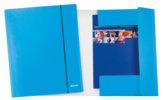 Cartella con elastico WoW, azzurro