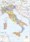 Cartine scolastiche murali, ITALIA politica/fisica