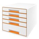 Cassettiera Wow Cube, arancio