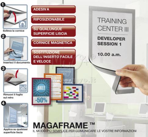 Cornice Espositiva Adesiva Duraframe® Riposizionabile Confezione da 2 Pezzi