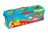 Pasta per Modellare, Barattolo da 220 Gr, Vari Colori, 3 assortiti: ciano, rosso, giallo