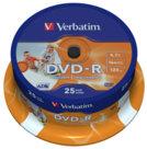 Dvd-r e dvd+r stampabili, dvd-r spindle 25 pezzi