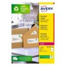 Etichette bianche in carta riciclata per buste, pacchi e raccoglitori per stampanti Laser, mm 199,6x143,5