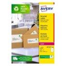 Etichette bianche in carta riciclata per buste, pacchi e raccoglitori per stampanti Laser, mm 199,6x289,1