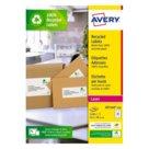 Etichette bianche in carta riciclata per buste, pacchi e raccoglitori per stampanti Laser, mm 63,5x38,1