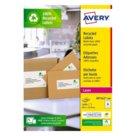 Etichette bianche in carta riciclata per buste, pacchi e raccoglitori per stampanti Laser, mm 99,1x33,9