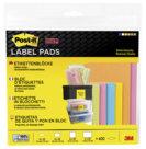 Post-it® Super Sticky, Etichette Rimovibili, Vari Formati, formati assortiti