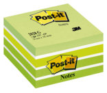 Post-it® Notes Cubi, verde tenue pastello