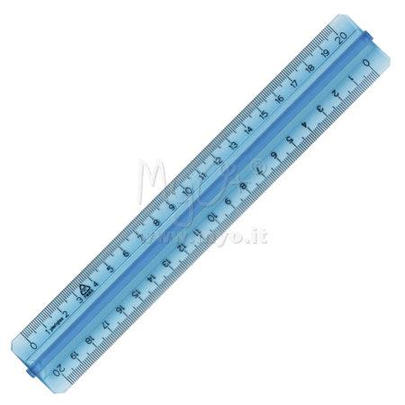 Righelli in plexiglas azzurro