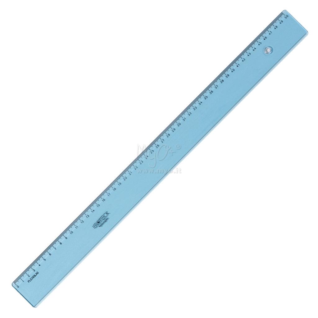 Righello in plastica infrangibile Decimi 16THS//pollici e mm 300/mm azzurro tinta L16025/ 1/pezzo