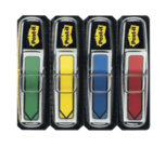 Post-it® Index Freccia, 4 Blocchetti, 12 x 43 mm, colori classici