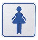 Segnaletica da interni autoadesiva, toilette donna