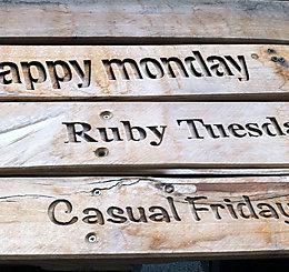 Happy Monday, Ruby Tuesday e Casual Friday