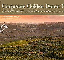 MyO sostiene il FAI, Fondo Ambiente Italiano, attraverso l'adesione al programma Corporate Golden Donor!