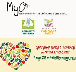 MyO ha collaborato con Coldiretti Piacenza alla Campagna Amica e Bonifica per