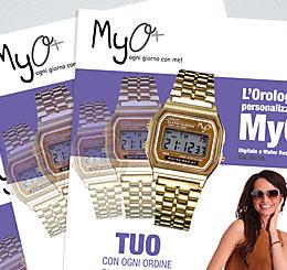 Promozione Orologio Digitale Personalizzato MyO agosto settembre 2017