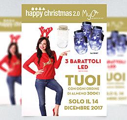 Happy Christmas 2.0! 3 Barattoli Led