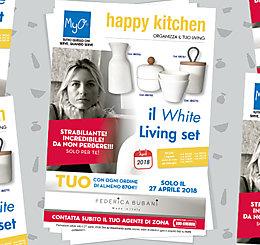 Happy Kitchen! Organizza il TUO Living: il WHITE Living set!