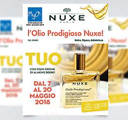 Promozione Olio Prodigioso Nuxe MyO maggio 2018
