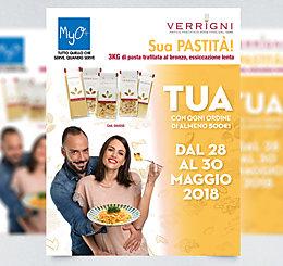 Promozione 3KG di Pasta Verrigni MyO maggio 2018