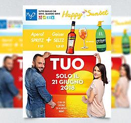 Promozione Aperol SPRITZ + Geiser SELTZ MyO