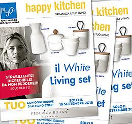 Promozione Happy Kitchen: Organizza il TUO Living con il WHITE Living Set!!!