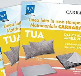 Promozione MyO Completo Letto in Raso stampato Matrimoniale CARRARA! 2019