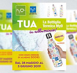 Promozione Bottiglia Termica WD Personalizzata MyO 2019