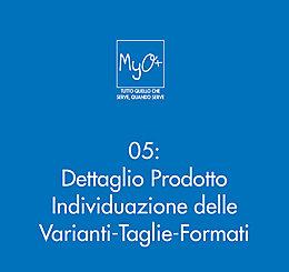 05 - Dettaglio Prodotto - Individuazione delle Varianti-Taglie-Formati