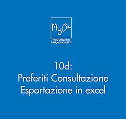 10d - Preferiti Consultazione - Esportazione in excel